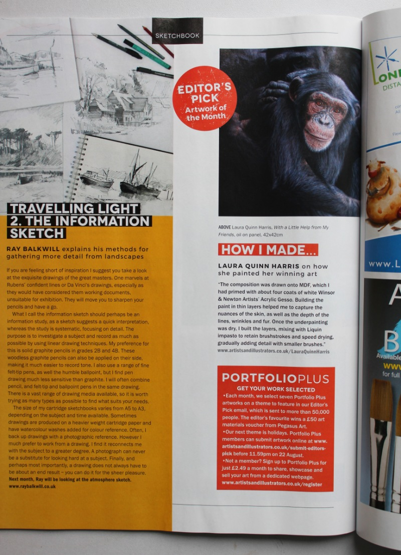 Artists & Illustrators Magazine article