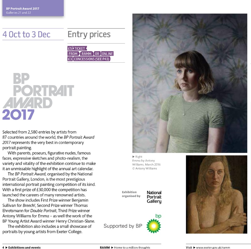 BP Portrait Award 2017 tour